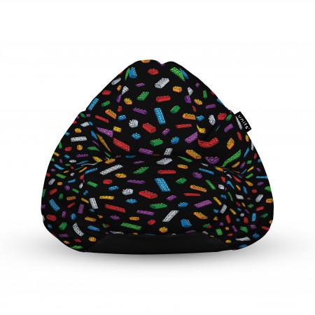 Fotoliu Units Puf (Bean Bags) tip para, impermeabil, cu maner, 100x80x70 cm, lego fundal negru