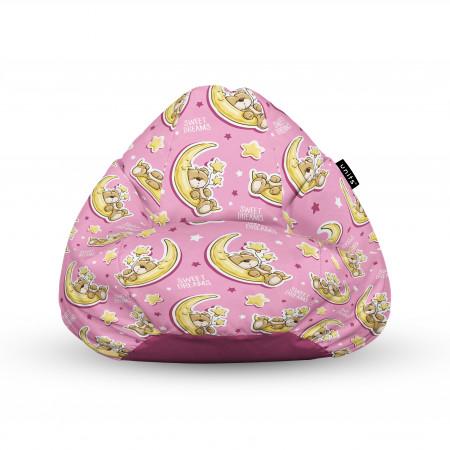 Fotoliu Units Puf (Bean Bags) tip para, impermeabil, cu maner, 100x80x70 cm, sweet dreams teddy bear