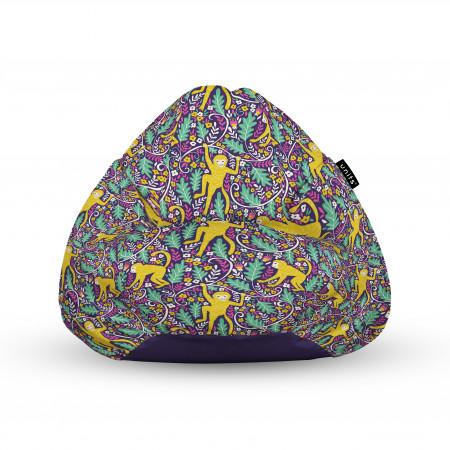 Fotoliu Units Puf (Bean Bags) tip para, impermeabil, cu maner, 100x80x70 cm, maimute in copac