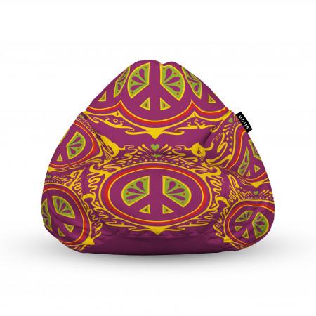 Fotoliu Units Puf (Bean Bags) tip para, impermeabil, cu maner, hippie groove