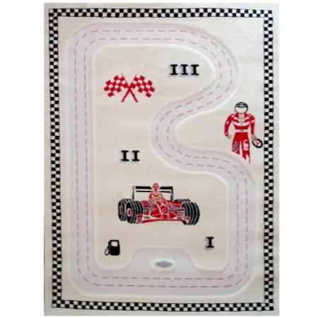 Covor pentru copii 3D interactiv Formula 1 - 134x180 cm