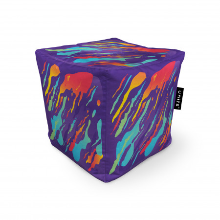 Fotoliu Units Puf (Bean Bags) tip cub, impermeabil, retro lava