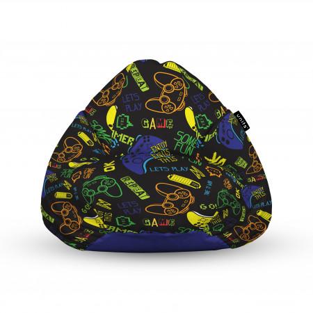 Fotoliu Units Puf (Bean Bags) tip para, impermeabil, cu maner, 100x80x70 cm, let's play