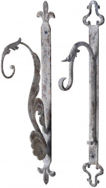 Suport pentru agatat ghiveci din metal antic