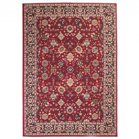 Covor persan, design oriental, 80 x 150 cm rosu/bej
