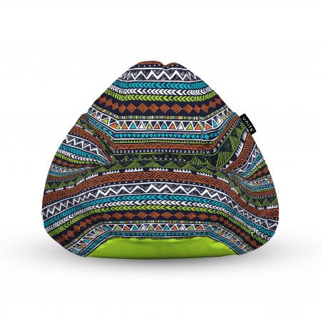 Fotoliu Units Puf (Bean Bags) tip para, impermeabil, cu maner, 100x80x70 cm, tribal aztec