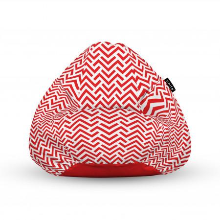 Fotoliu Units Puf (Bean Bags) tip para, impermeabil, cu maner, model rosu si alb