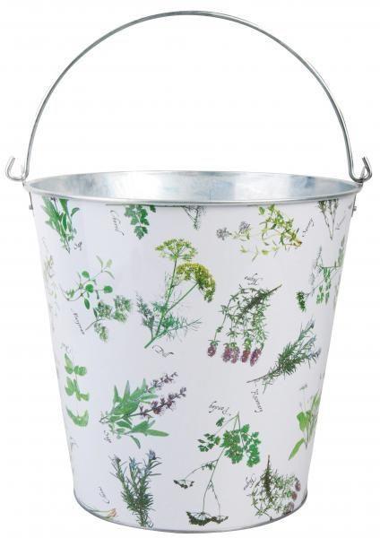 Galeata din metal cu plante aromatice 12 l