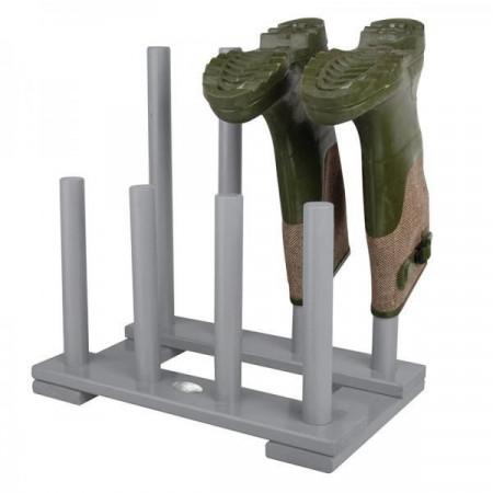 Suport pentru cizme de exterior din lemn gri