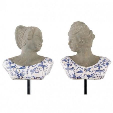 Bust din ceramica cu tija metalica 65cm