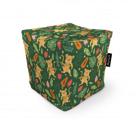 Fotoliu Units Puf (Bean Bags) tip cub, impermeabil, maimute si frunze