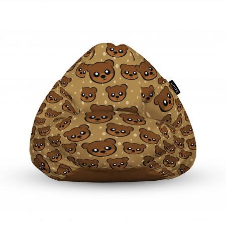Fotoliu Units Puf (Bean Bags) tip para, impermeabil, cu maner, 100x80x70 cm, cute brown bear
