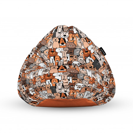 Fotoliu Units Puf (Bean Bags) tip para, impermeabil, cu maner, 100x80x70 cm, invazia animalelor