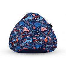 Fotoliu Units Puf (Bean Bags) tip para, impermeabil, cu maner, 100x80x70 cm, dinozauri nocturni