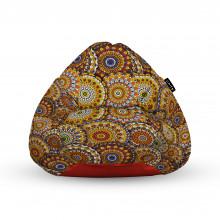 Fotoliu Units Puf (Bean Bags) tip para, impermeabil, cu maner, 100x80x70 cm, mandala