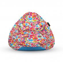 Fotoliu Units Puf (Bean Bags) tip para, impermeabil, cu maner, 100x80x70 cm, candy rainbows