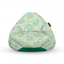 Fotoliu Units Puf (Bean Bags) tip para, impermeabil, cu maner, frunze verzi si galbene