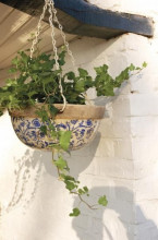 Ghiveci ceramic cu agatatoare Fleurs Bleues