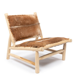 The Island Fuzzy Chair - Natural Brown, ,
