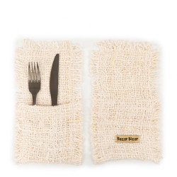 The Oh My Gee Cutlery Holder - Cream - Set of 4, , SET4