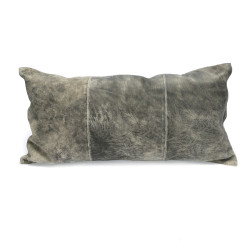 The Three Panel Suede Cushion Cover - Grey, , 30x60