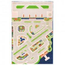 Covor copii 3D interactiv Orasul la mare cu aeroport 100x150cm