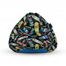 Fotoliu Units Puf (Bean Bags) tip para, impermeabil, cu maner, 100x80x70 cm, skate