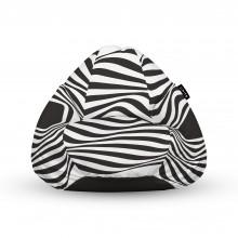 Fotoliu Units Puf (Bean Bags) tip para, impermeabil, cu maner, abstract zebra