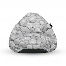 Fotoliu Units Puf (Bean Bags) tip para, impermeabil, cu maner, pietre albe