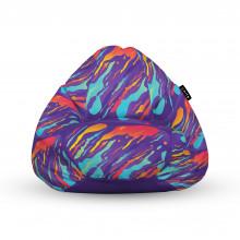 Fotoliu Units Puf (Bean Bags) tip para, impermeabil, cu maner, retro lava