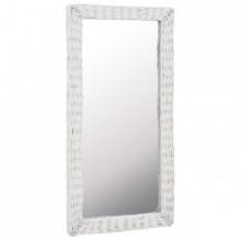 Oglinda, alb, 50 x 100 cm, rachita