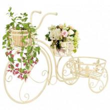 Suport de plante model bicicleta, stil vintage, metal