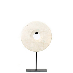 The Marble Disc on Stand - White - M, Bazar Bizar, M