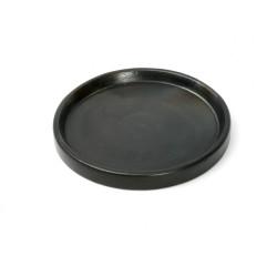 The Terracotta Burned Plate - Negru- S, , S