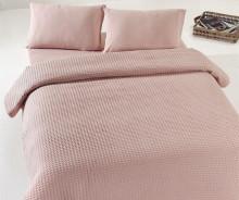 Cuvertura de pat caramel pique din bumbac 100% 220*240cm