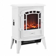 [casa.pro]® Fire Semineu electric AASL-6202, 39 x 24 x 56,5 cm, 1000 / 2000W, plastic, metal, sticla, alb