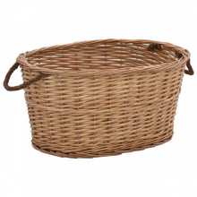Cos lemne foc manere de transport natural 58x42x29 cm salcie