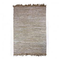Covor ALTAY din piele, iută și bumbac 160 x 230 cm