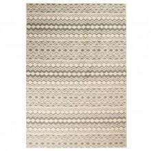 Covor modern, design traditional, 140 x 200 cm, bej/gri
