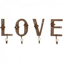 "Cuier litere-4 agatatori ""Love"""