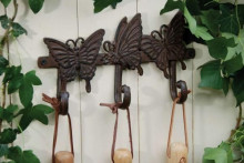 """Cuier pentru unelte gradina din fonta-triplu """"Fluture"""""""