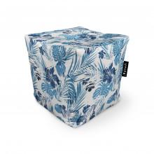 Fotoliu Units Puf (Bean Bags) tip cub, impermeabil, frunze albastre