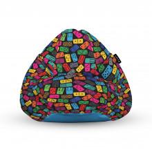 Fotoliu Units Puf (Bean Bags) tip para, impermeabil, cu maner, 100x80x70 cm, domino colorat
