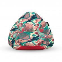 Fotoliu Units Puf (Bean Bags) tip para, impermeabil, cu maner, 100x80x70 cm, tenis