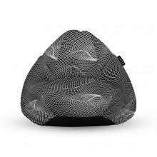 Fotoliu Units Puf (Bean Bags) tip para, impermeabil, cu maner, topografic negru