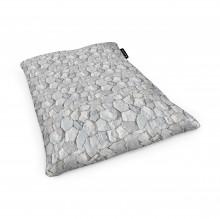Fotoliu Units Puf (Bean Bags) tip perna, impermeabil, pietre albe
