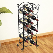 Suport sticle de vin pentru 21 de sticle, metal