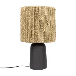 The Chalki Table Lamp - NegruNatural, , 30x30