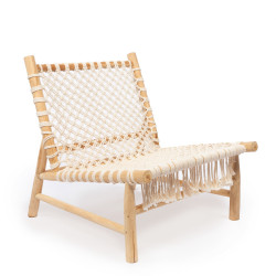 The Island Rope One Seater - Natural White, ,