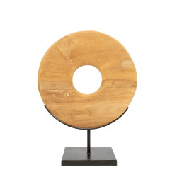 The Teak Disc on Stand - M, , M